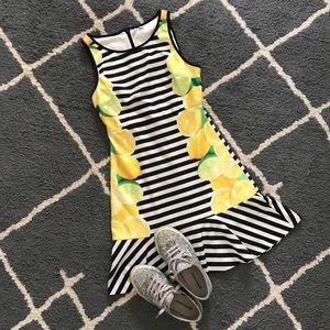 Elle Lemon Stripe Dress